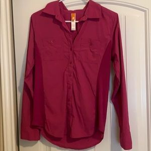 Lucy Pink Button-Up Long Sleeve